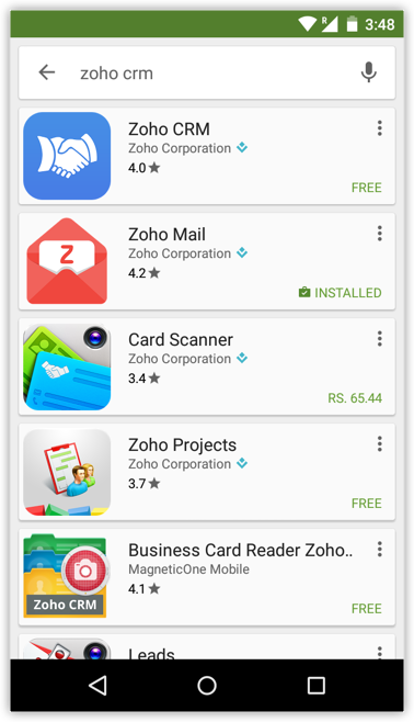 Business card scanner zoho image collections card design and card business card scanner zoho choice image card design and card template installing app in android phones reheart Choice Image