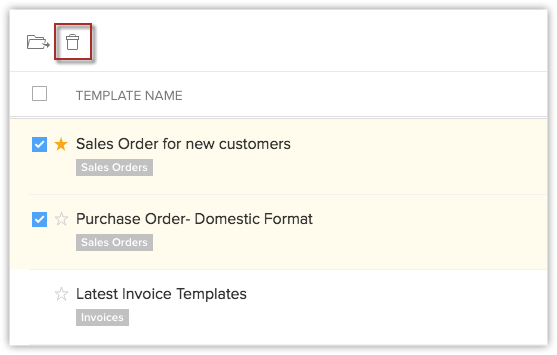 inventory templates online help zoho crm