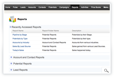 Zoho CRM - Reports