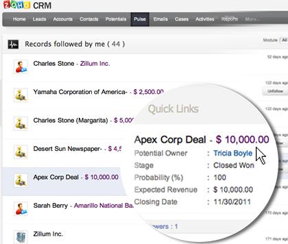 Track your sales activities