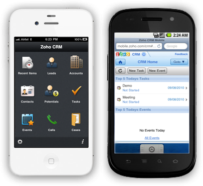 Go Mobile. Take CRM with you