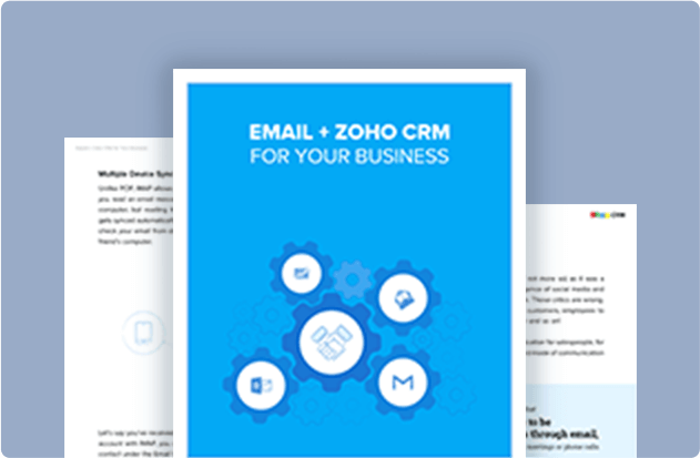 Email + Zoho CRM for Your Business