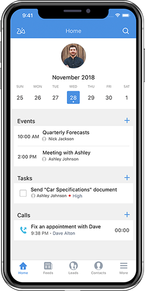 Mobile crm app for activity management