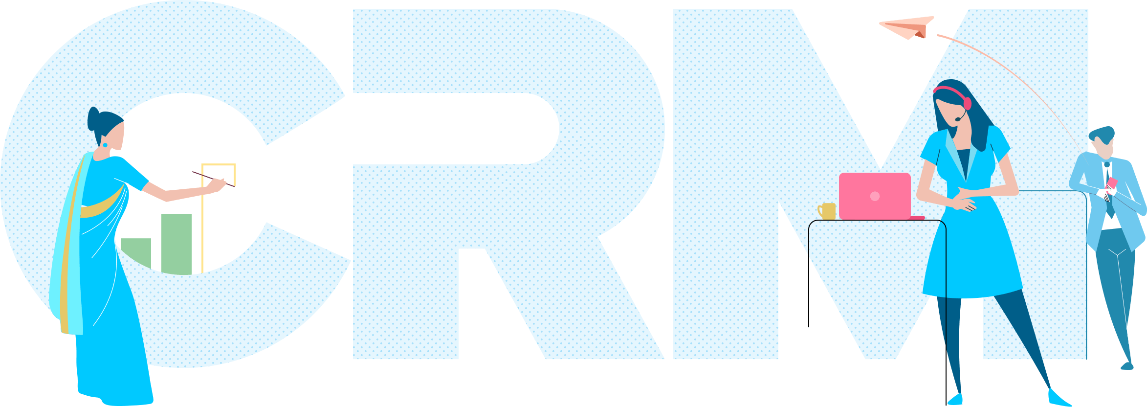 CRM banner Illustration