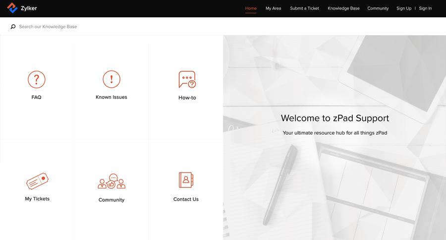 Customer Self help portal