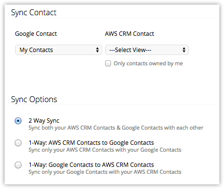 Google Contacts Synchronization | Online Help - Zoho Developer