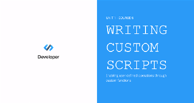 Writing Custom Scripts