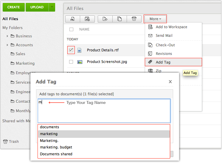 Assign Existing Tags