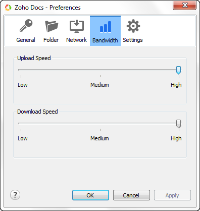 Bandwidth Settings