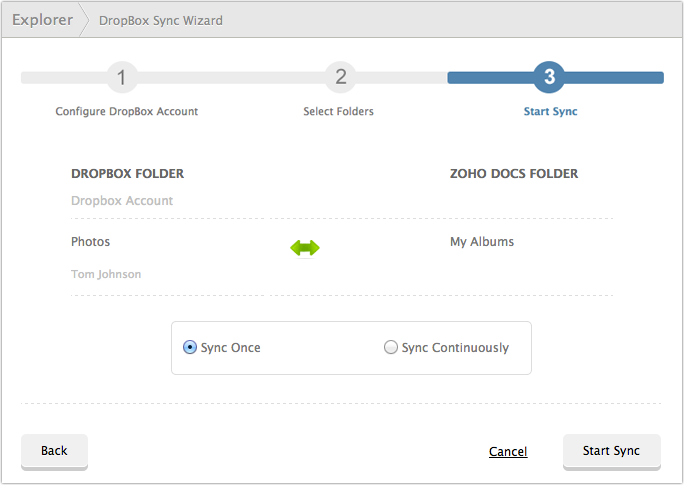 How to sync your Dropbox account with Zoho Docs