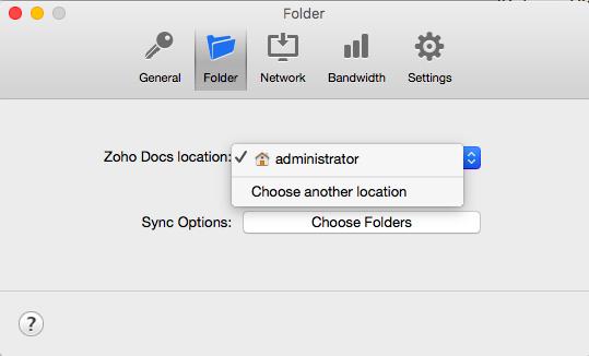 Move sync folder