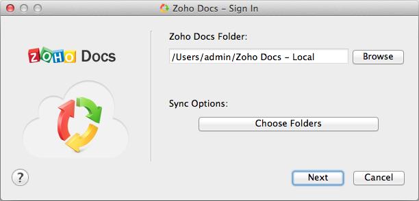 Zoho Docs Setup