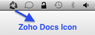 Zoho Docs Sync Tray Icon