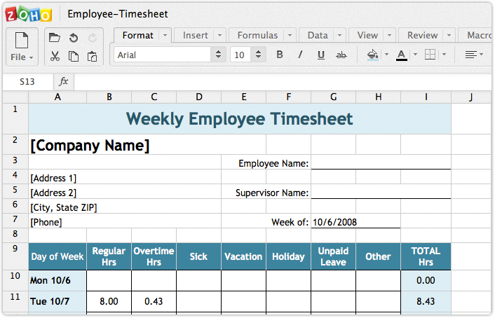 Zoho Docs | Create and edit spreadsheets online