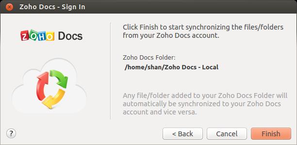 Zoho Docs Setup Complete