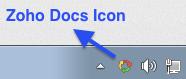 Zoho Docs Sync Tray Icon