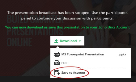 PDF Options PowerPoint Show