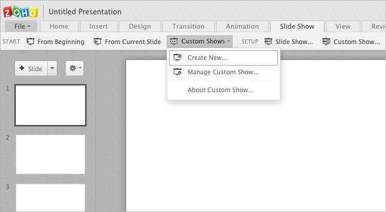 custom slide show