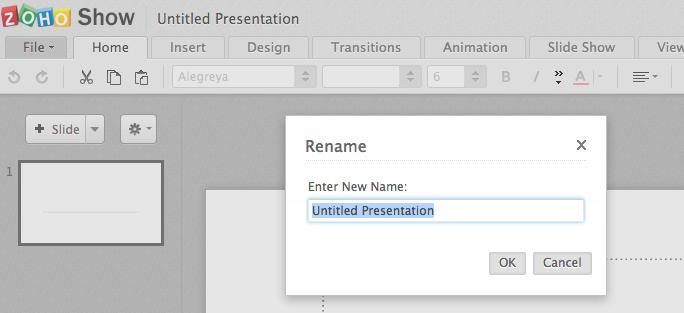 name a presentation