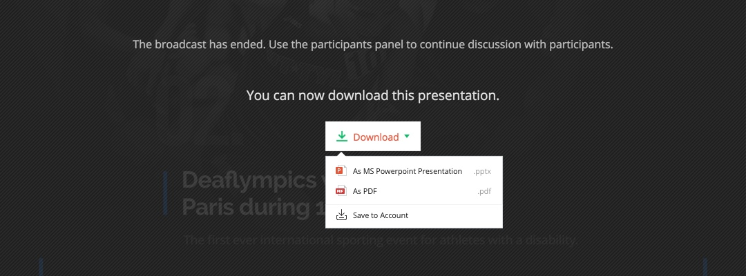Download and save your presentation