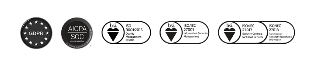 Badges of different certifications