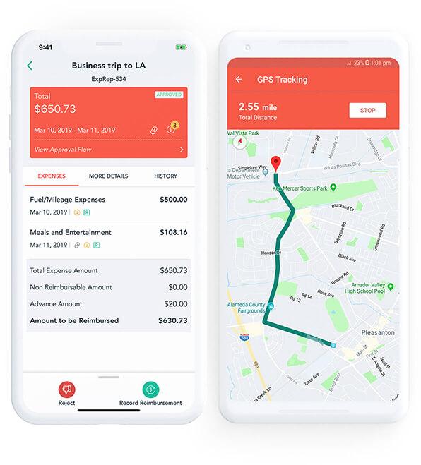 Zoho Expense app for Mobiles