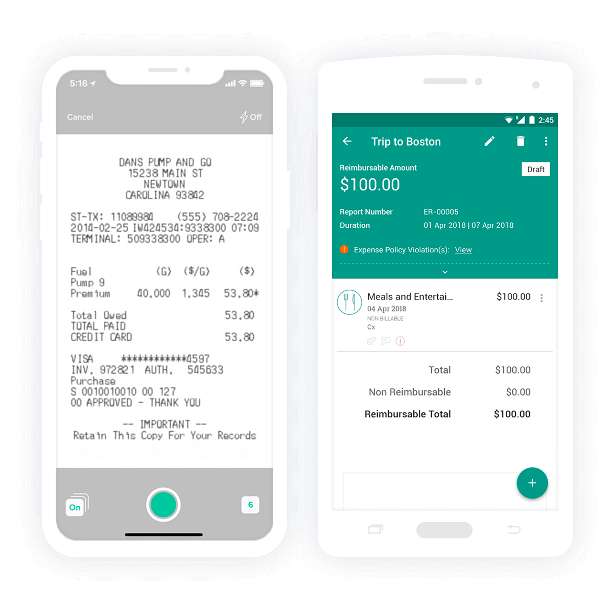 Zoho Expense Tracker Reading Receipts