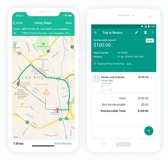 Expense report auditing on the go