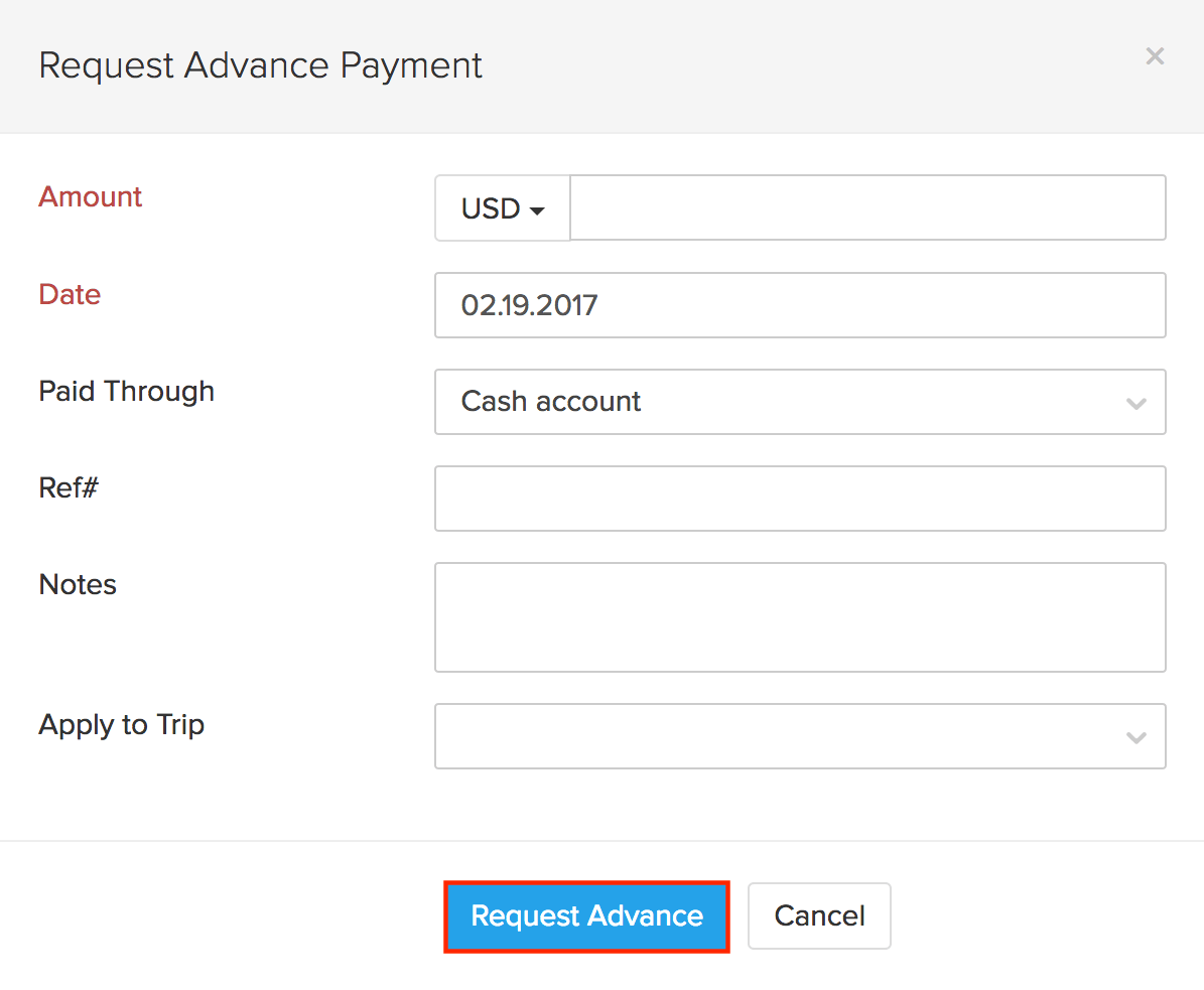 Record Advance Payments