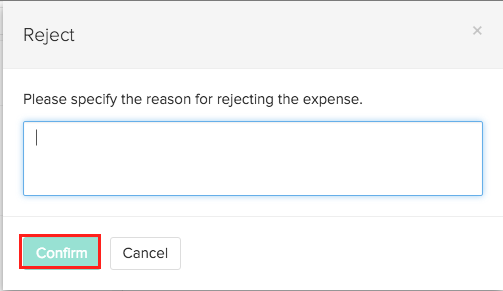 Reject expense in reports