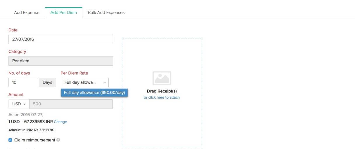 expenses user guide zoho expense