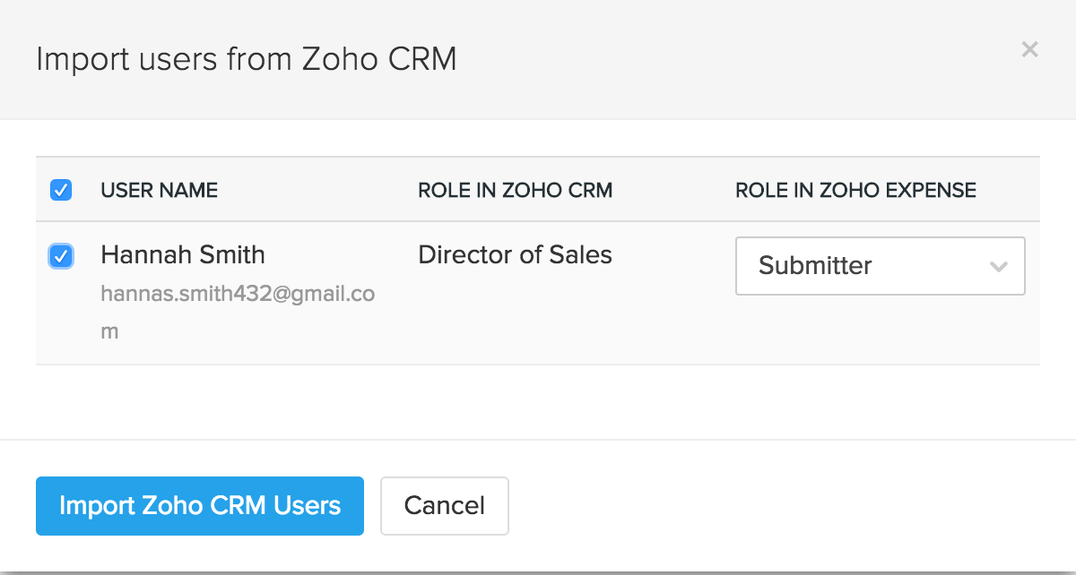 Import CRM users