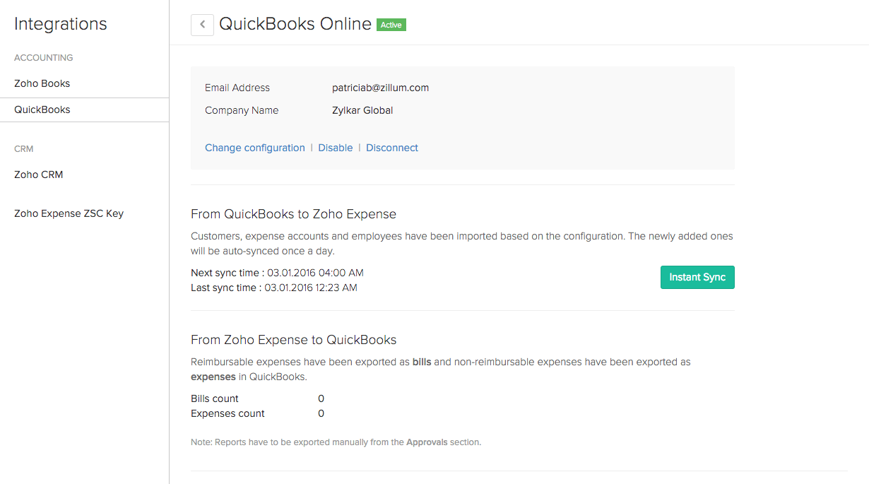 Customizing QuickBooks setup