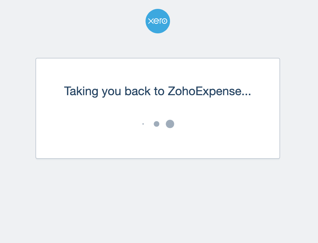 Redirecting to Zoho Expense