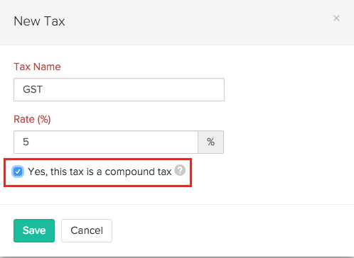 Create Compound Tax