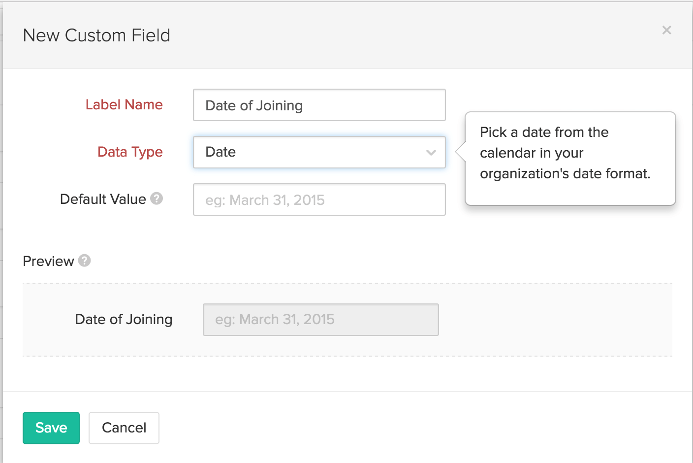 custom fields in invite user form