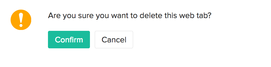 Delete Web Tab