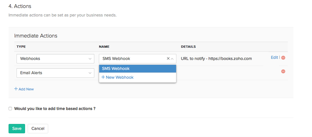 Webhooks with workflow
