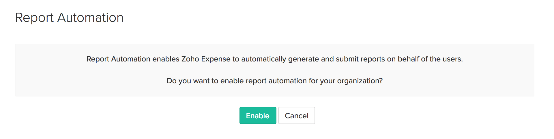 Enable Report Automation