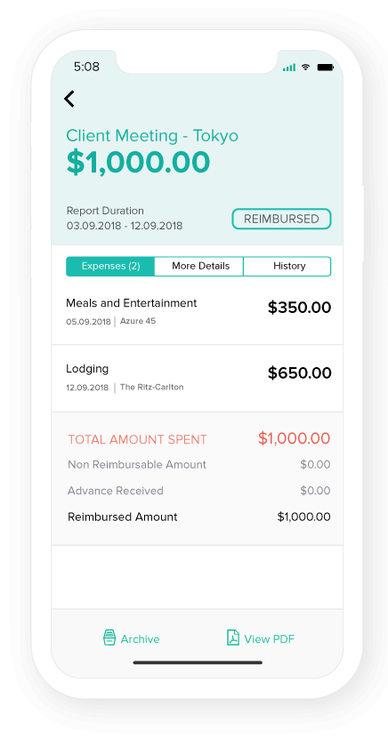 Expense reports on the go!