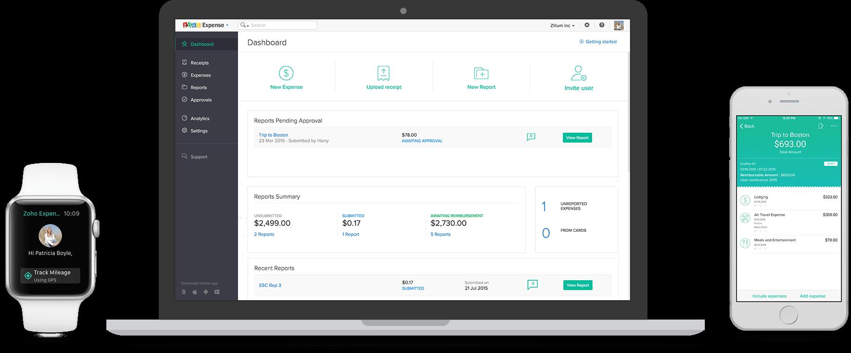 Zoho Expense App