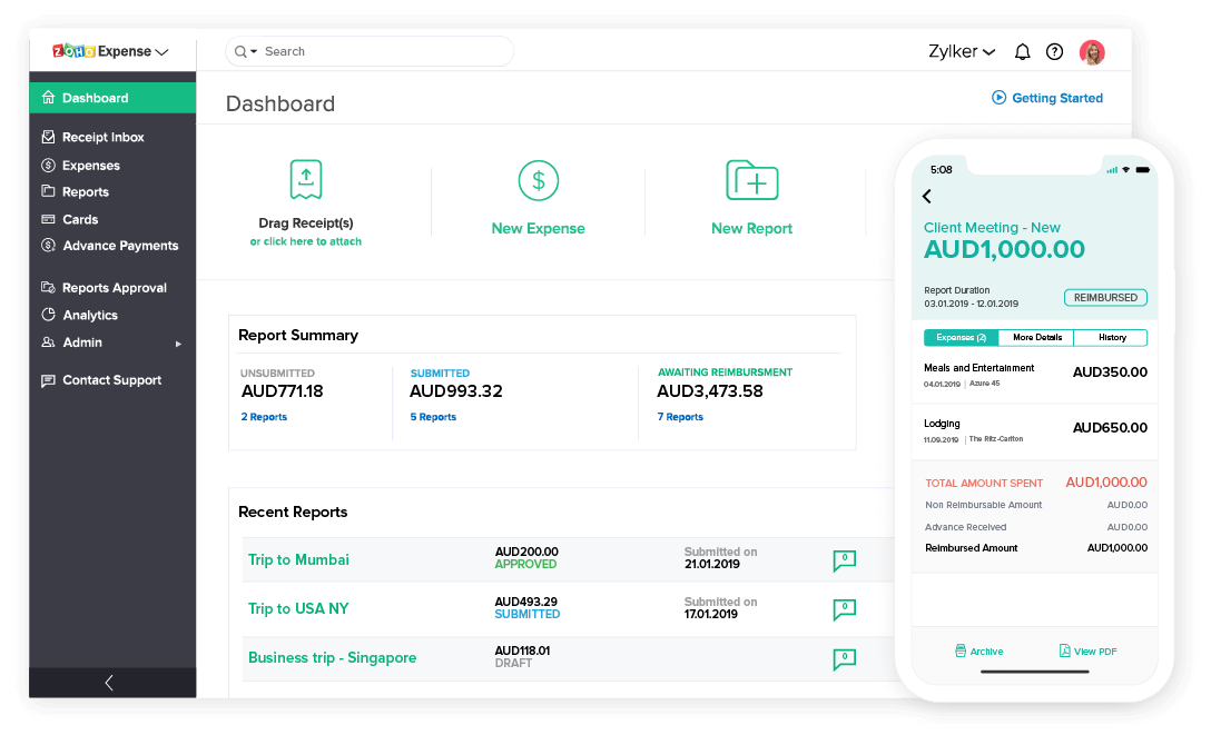 Online Expense Reporting Software – Zoho Expense