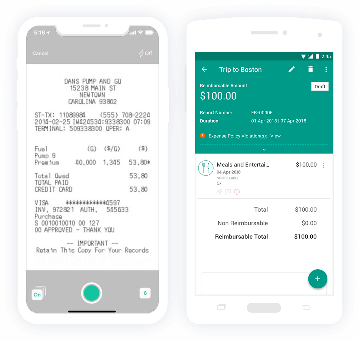 Expense reporting apps