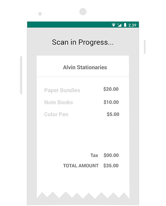 Auto scan your receipts