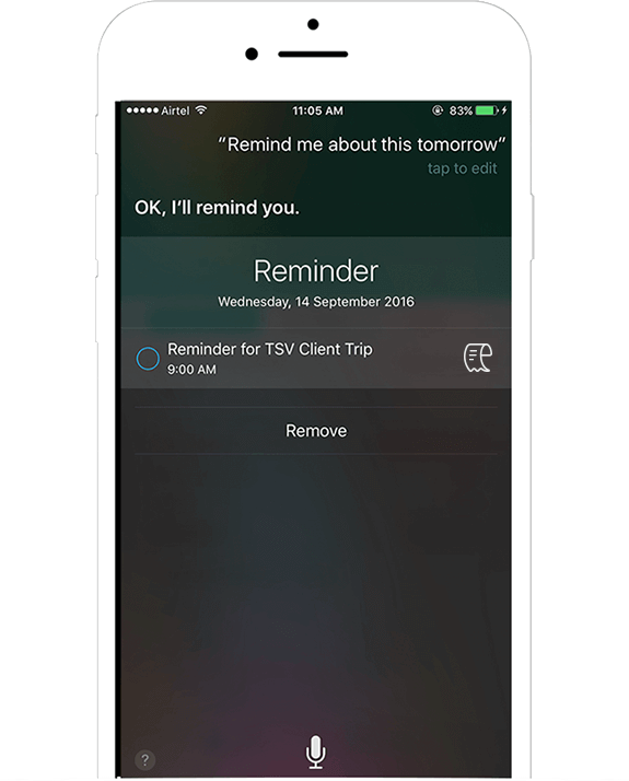Reminders in mobile expense reporting - Mind your deadlines with Siri reminders - Zoho Expense