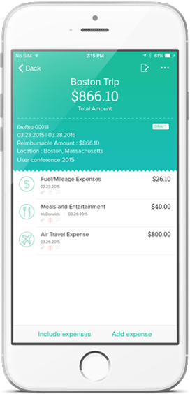 Expense Report App | Mobile Expense Reporting | Zoho Expense