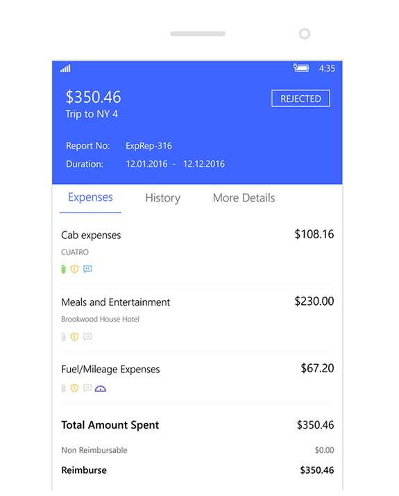 Submit expense reports on the go