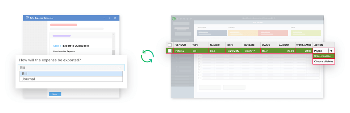 Import employees and customers from QuickBooks to Zoho Expense