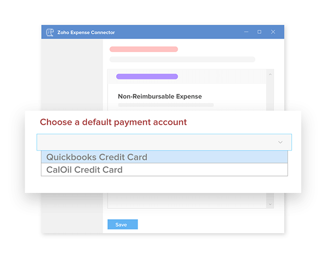 Export expense reports as bills and credit card charges to Quickbooks