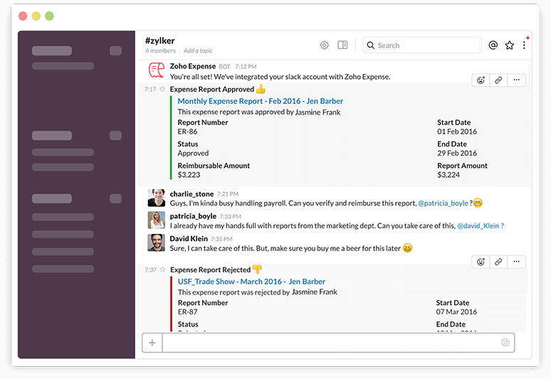 Notifications in Slack